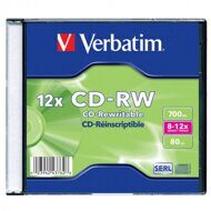 Диск Verbatim CD-RW 8-12x 700Mb 80min (Slim Case)