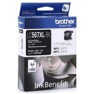 Картридж BROTHER LC567XL-BK для MFCJ2510/2310 черный