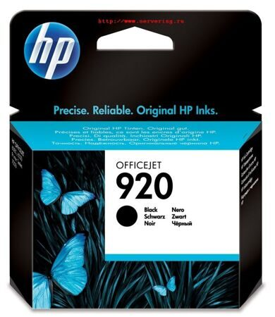 Картридж HP  №920 (CD971AE), Black