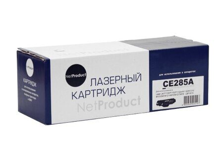 Картридж NetProduct N-CE285A, Black
