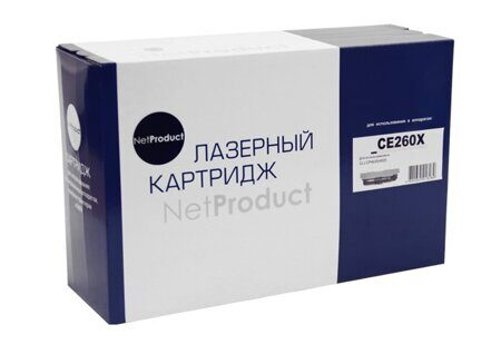 Картридж NetProduct N-CE260X, Black