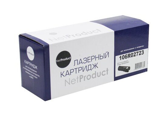 Тонер-картридж NetProduct 106R02723 для Xerox Phaser 3610/WC3615, 14,1K