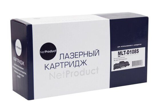 Картридж NetProduct N-MLT-D108S, Black